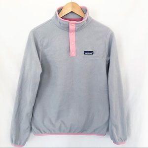 Patagonia T snap sweatshirt sz S Light Gray pink